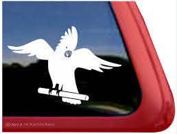 Custom Cockatoo Parrot Bird Decals Stickers Nickerstickers