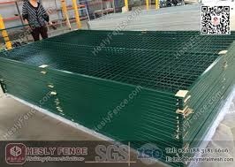 6ft X9 5 Green Color Movable Temporary Mesh Fence China Movable Temporary Fence Factory