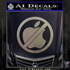 Apple Anti Decal Sticker No Mac A1 Decals