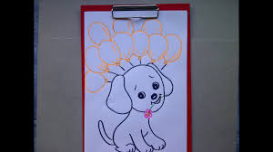Como Dibujar Un Perro Dibujando Un Cachorro Tarjetas De