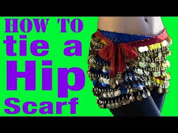 how to wear a belly dance hip scarf for