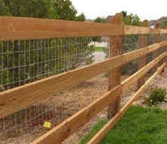 3 Board Fence With Wire Backyard Farm Gardens Fence