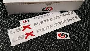 Amazon Com Underground Designs Lsx Performance Hood Decals Ls1 Ls6 Ls2 Ls3 Ls7 Stickers Select Color Metallic Silver Red 1 0 X 11 5 Automotive