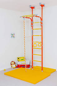 Amazon Com Comet 5 Children S Indoor Home Gym Playground Set For Kids With Gymnastic Rings Rope And Trapeze Bar Great For Gyms Schools And Kids Room Sports Outdoors