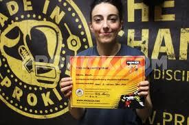 Letitia Smith yellow belt :: Gallery :: Prokick Kickboxing