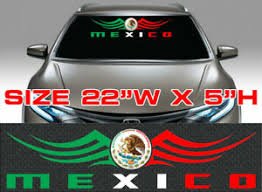 1 Mexican Flag Decal Coat Of Arms Mexico Flag Racing Car Decal Stickers 55 Ebay