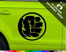 Hulk Car Decal Etsy