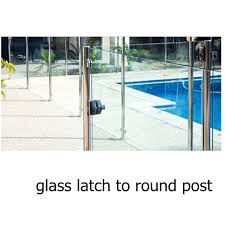 glass gate hinge and latch hinge and