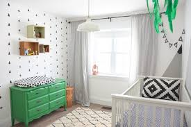How To Create A Black And White Nursery Accent Wall The Sweetest Digs