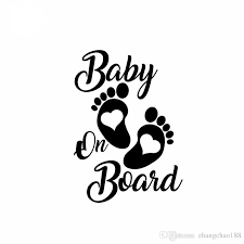 2020 Vinyl Hobby Car Decal Baby On Board Black Silver Ca 591 From Zhangchao188 0 3 Dhgate Com