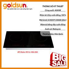 Bếp Đôi Điện Từ Cảm Ứng Đặt Âm Goldsun IH-GYL27 - Nhập Khẩu Malaysia - Hàng  chính hãng