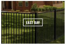 The East Bay Fence Is One Of Several Designs Yardlink Offers To See Our Full Selection Of Styles Visit Our Web Backyard Landscaping Aluminum Fencing East Bay