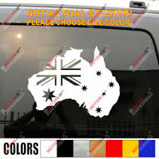 Flag Of Australia Australian Map Outline Car Decal Sticker Ebay