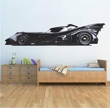 Batmobile Wall Decal Batman Wall Art Bat Mobile Kids Bedroom Wall Deco American Wall Designs