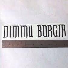 Home Furniture Diy Dimmu Borgir Vinyl Decal Sticker Blk Wht Red Black Metal Band Logo Window Guitar Wall Decals Stickers Idealschool Education