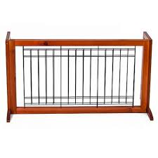 Best Choice Products Adjustable Freestanding Pet Dog Fence Gate For Small Animals Brown Walmart Com In 2020 Indoor Dog Fence Wooden Dog Gates Dog Fence