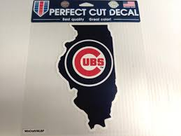 Chicago Cubs Window Die Cut Decal Colored State Wincraft Sticker 8x8 Sports City Hats