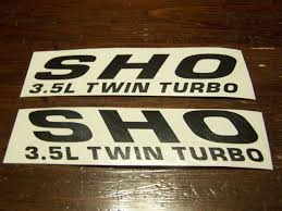 Sho 3 5l Twin Turbo Hood Fender Decal Sticker Emblem Ford Taurus V6 Ecoboost