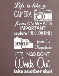 Camera Vinyl Wall Decal Life Is Like A Camera Quote Lettering Words Mural Art Wall Sticker Cinema Film Bedroom Hom Camera Quotes Life Is Like Wall Decor Quotes