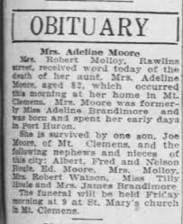 Adeline Brandimore Moore Obituary - Newspapers.com