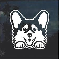 Corgi Peeking Dog Window Decal Sticker Custom Sticker Shop