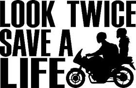 Look Twice Save A Life Motorcycle Safety Decal Window Bumper Sticker Car Bike Ebay