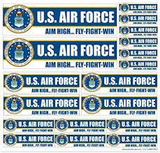 Amazon Com U S Air Force 12 X 12 Vinyl Sticker Decal Sheet For Car Truck Laptop Car Electronics