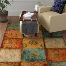 aftonshire red blue area rug rugs