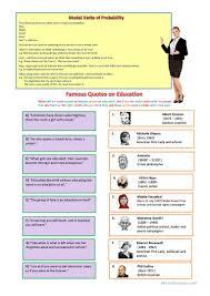 famous quotes about education english esl worksheets