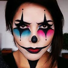 pink and blue clown makeup every kind