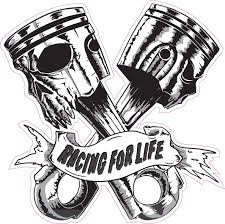 Skulls Pistons Racing For Life Large Decal Nostalgia Decals Vinyl Auto Stickers Nostalgia Decals Online