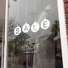 Christmas Sale Shop Window Decal Shop Window Sale Sign Etsy