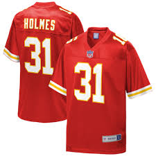 Men's Kansas City Chiefs Priest Holmes NFL Pro Line Red Retired Player  Jersey