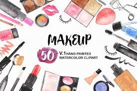 watercolor makeup cosmetic clipart
