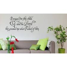 Shop Phrase Prayed For This Child Wall Art Sticker Decal Overstock 11604196