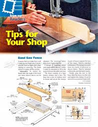 Band Saw Fence Plans Band Saw Tips Jigs And Fixtures Woodarchivist Com Woodworking Jig Plans Woodworking Projects For Kids Woodworking Tips