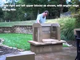 perfect outdoor fireplace kit assembly