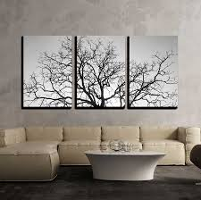 Wall26 3 Piece Canvas Wall Art Dead Tree Branch Black And White Modern Home Decor Stretched And Framed Ready To Hang 24 X36 X3 Panels Walmart Com Walmart Com