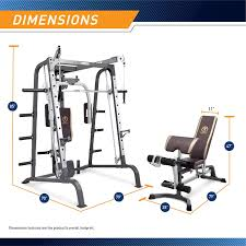 Amazon.com : Marcy Smith Cage Workout Machine Total Body Training Home Gym  System with Linear Bearing Md-9010G, Silver (MD-9010) : Smith Machines :  Sports & Outdoors