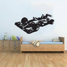 Wall Decal Room Sticker Racing Flag Formula 1 Speed Road Bedroom Boys Art Bo2975