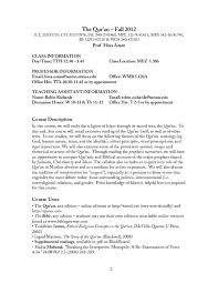 PDF) Syllabus, Qur'an (undergraduate) | Hina Azam - Academia.edu