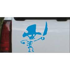 Pirate Skeleton Car Or Truck Window Decal Sticker Walmart Com Walmart Com