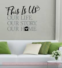 This Is Our Home Vinyl Lettering Decals Home Wall Decor Sticker Quotes