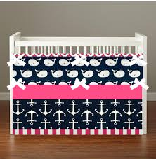 nautical whale pink crib toddler