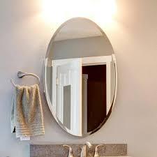 x 48 in oval beveled polish frameless