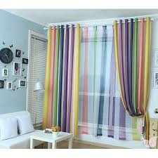 Rainbow Multi Color Blackout Striped Curtains For Bedroom Striped Curtains Curtains Bedroom Kids Curtains