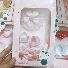 Sét 2 món giày và băng đô 3D - Mẹ bé Thiên Thanh