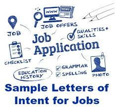 letter of intent for employment exles