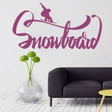 Wall Decal Sticker Bedroom Snowboard Quote Logo Sport Snow Boys Nursery Wall Decals Stickers Stickers Bedroomdecal Sticker Aliexpress