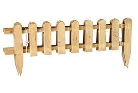 Mini Wooden Fence 28 X 111 Cm Garden Jardinitis